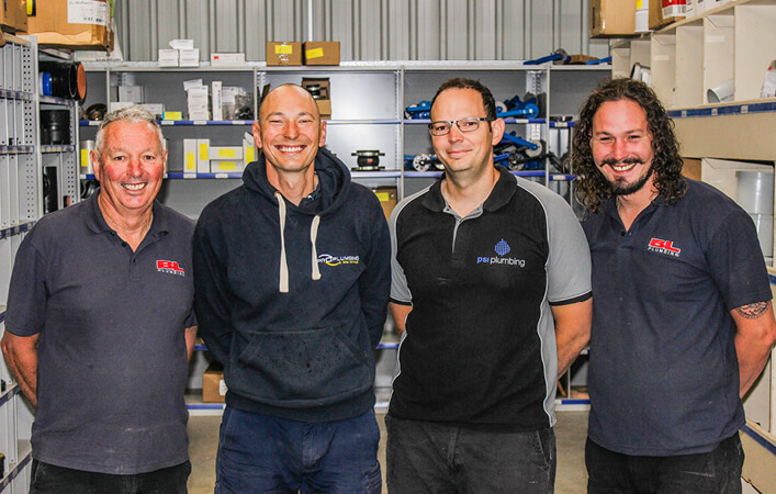 Bruce Leake and his plumbing family | Read the full story on our website